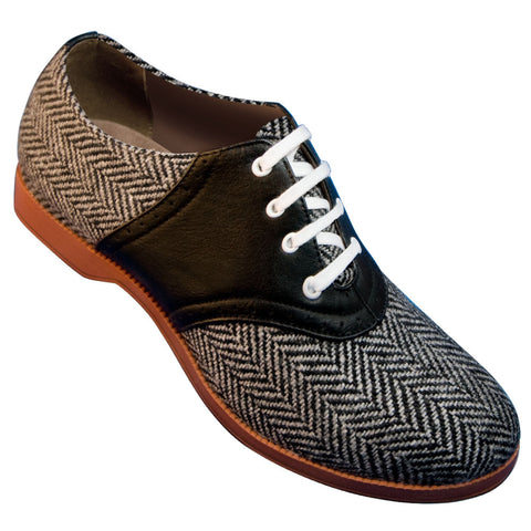 Aris Allen 1950s Women's Two-Tone Herringbone Saddle Shoes *Limited Sizes*