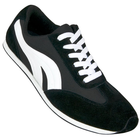 Aris Allen Men's Black and White Retro Runner Dance Sneaker