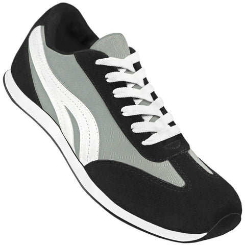 Aris Allen Men's Black and Grey Retro Runner Dance Sneaker - CLOSEOUT -  *Limited Sizes*