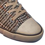 Aris Allen Women's Brown Plaid Classic Tomboy Dance Sneaker, dancestore.com - 2