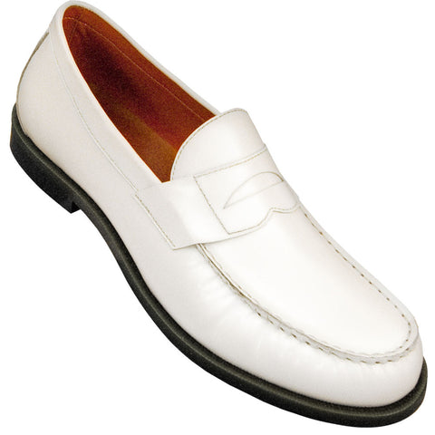 Aris Allen Men's White Dance Loafers