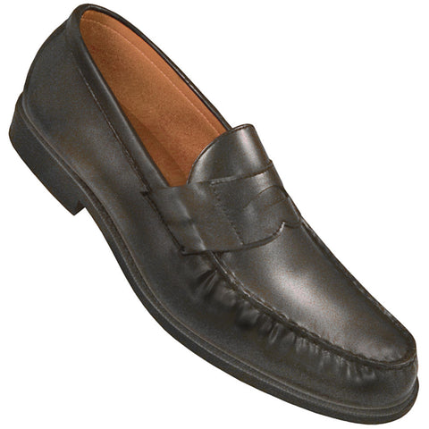 Aris Allen Men's Black Dance Loafers with Special Heel