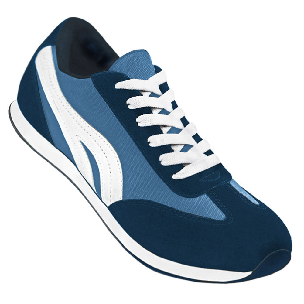 Aris Allen Women's Blue Retro Runner Dance Sneakers, dancestore.com