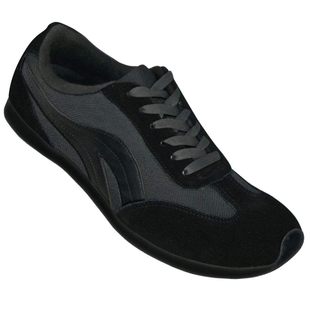 Aris Allen Women's Black Retro Runner Dance Sneakers - CLEARANCE - *Limited Sizes*, dancestore.com