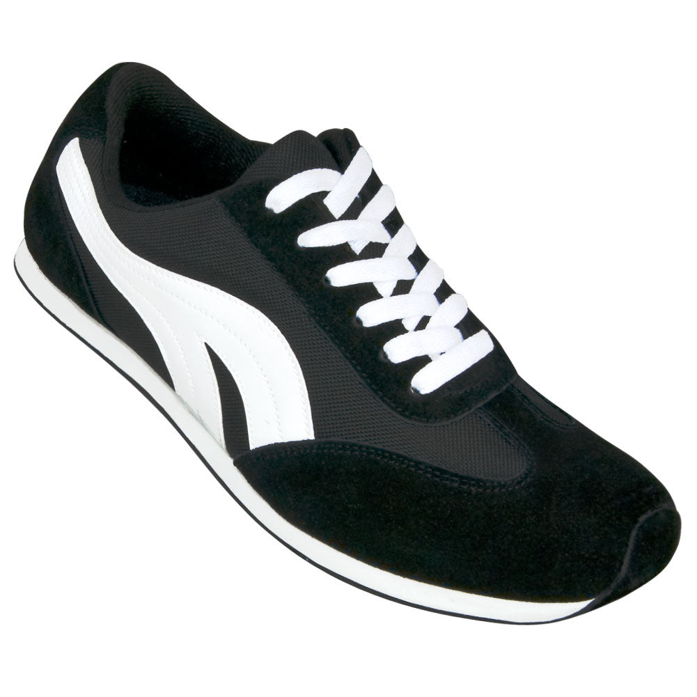 Aris Allen Women's Black & White Retro Runner Dance Sneaker, dancestore.com
