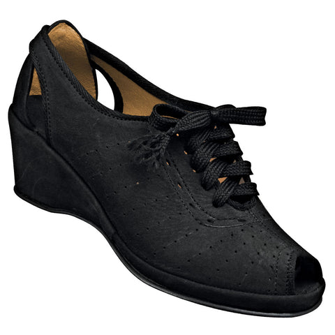 Aris Allen Women's 1940s Black Closed-Back Wedge - CLEARANCE - *Limited Sizes*