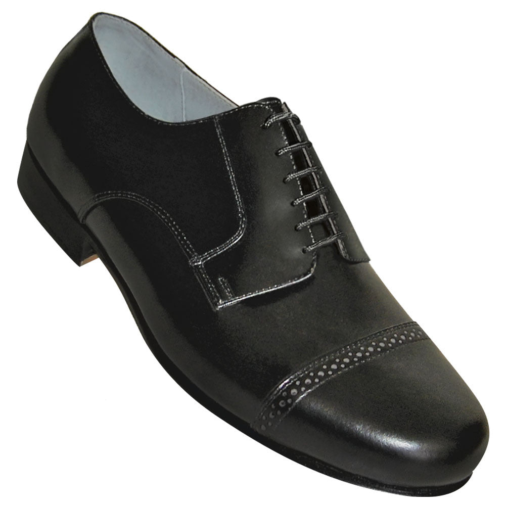 Aris Allen Men's 1930s Black Captoe Dance Shoe, dancestore.com
