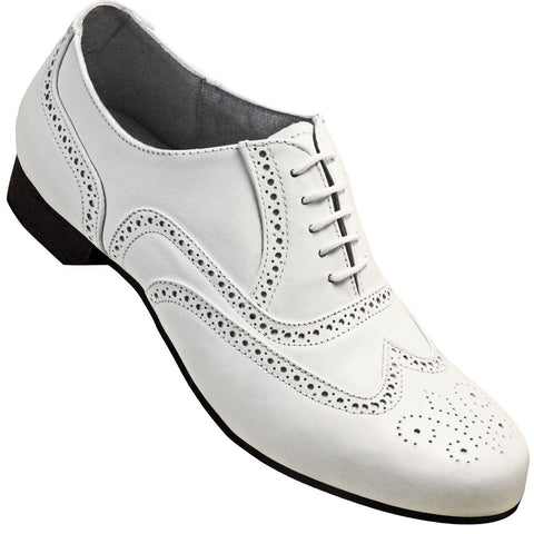 Aris Allen Men's 1930s White Wingtip Dance Shoe - *Limited Sizes*