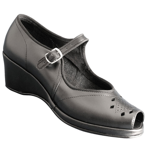 Aris Allen Women's Black Peep-Toe Mary Jane - CLEARANCE