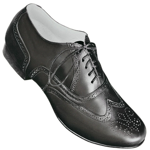 Aris Allen Men's 1930s Black Wingtip Dance Shoe *Limited Sizes*