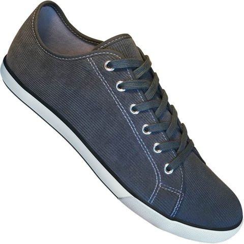 Aris Allen Men's Grey Corduroy Gym Style Dance Sneakers