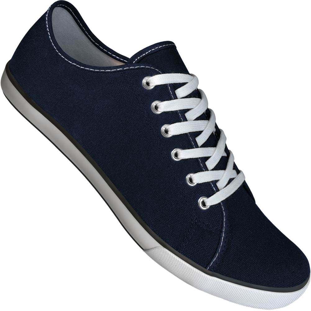Navy Canvas Gym Style Dance Sneakers