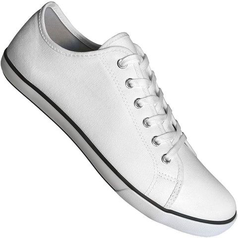Aris Allen Men's White Canvas Gym Style Dance Sneakers