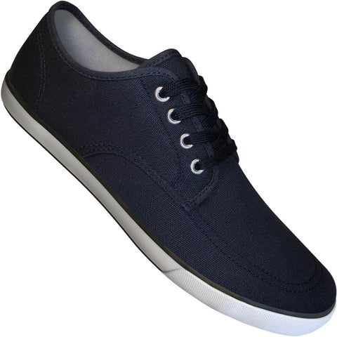 Aris Allen Men's Navy Canvas Oxford Dance Sneakers