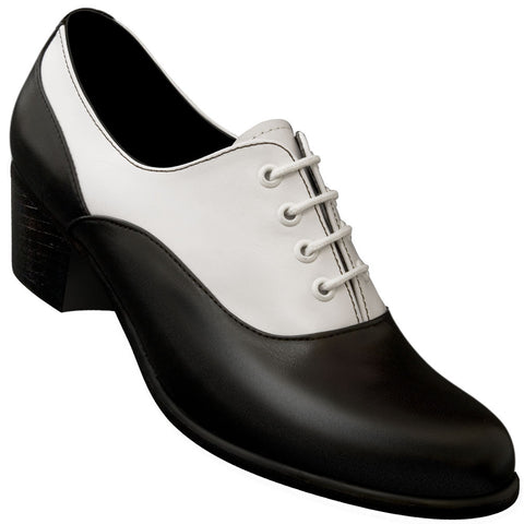 Aris Allen Women's Black & White Leather Sole Oxford - CLOSEOUT