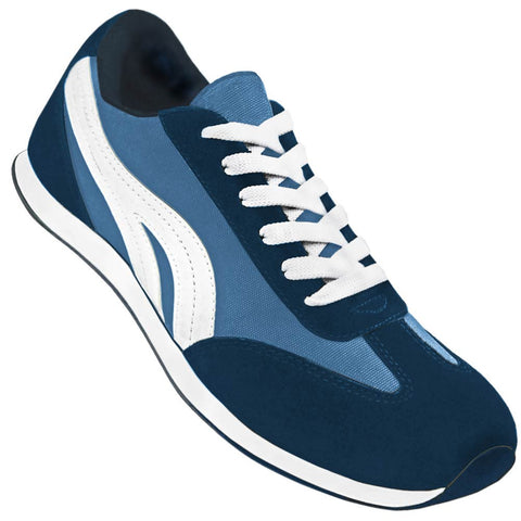 Aris Allen Men's Blue and White Retro Runner Dance Sneaker - CLOSEOUT -  *Limited Sizes*