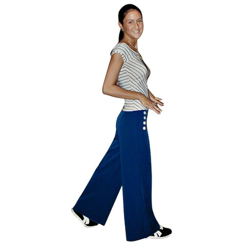 Women's Wide Leg Retro Sailor Pants *Limited Sizes*