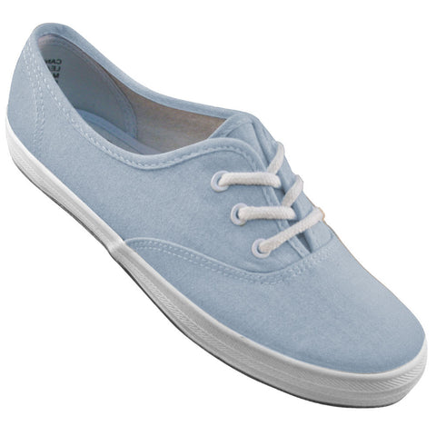 Aris Allen Women's Oxford Blue Classic Canvas Dance Sneaker - CLEARANCE