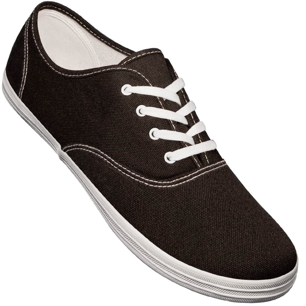 Aris Allen Men's Black Classic Canvas Dance Sneaker, dancestore.com