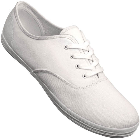 Aris Allen Men's White Classic Canvas Dance Sneaker