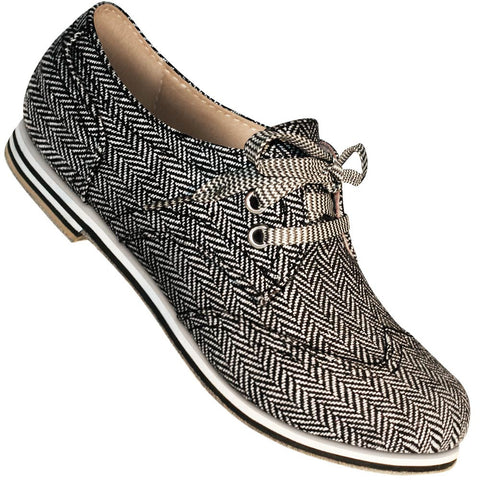 Aris Allen Women's Herringbone Canvas Wingtip Dance Shoes