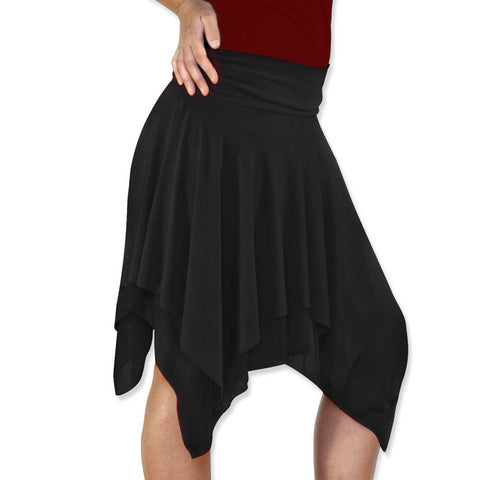 Black Salsa Dance Skirt - CLEARANCE - *Limited Sizes*