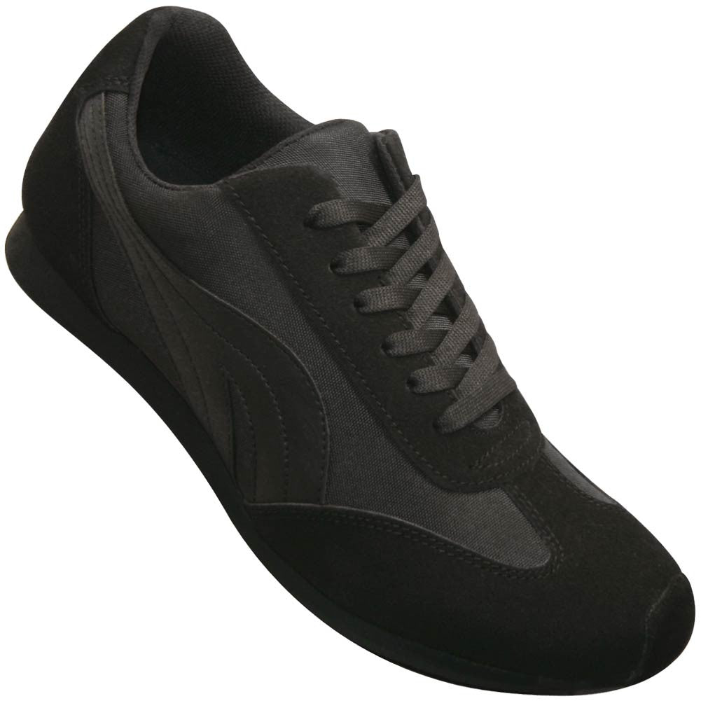 Aris Allen Men's Black Retro Runner Dance Sneaker, dancestore.com