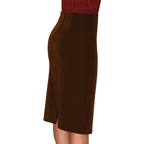 Pencil Skirt - Brown - CLEARANCE - *Limited Sizes*