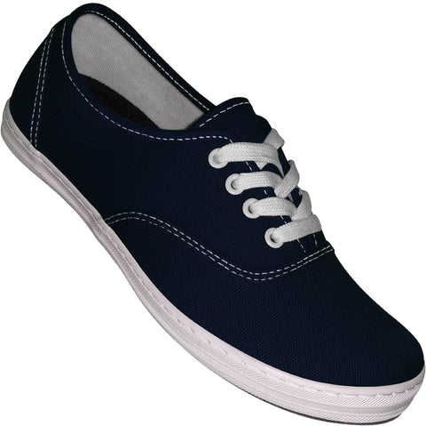 Aris Allen Women's Navy Blue Classic Canvas Dance Sneaker