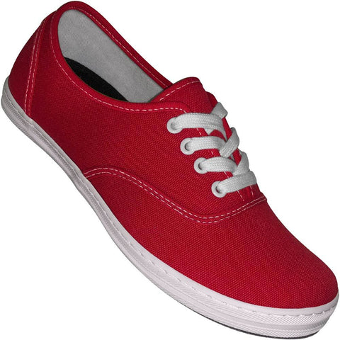 Aris Allen Women's Red Classic Canvas Dance Sneaker
