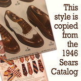 1946 Sears Catalog with Men's Wingtip Shoes