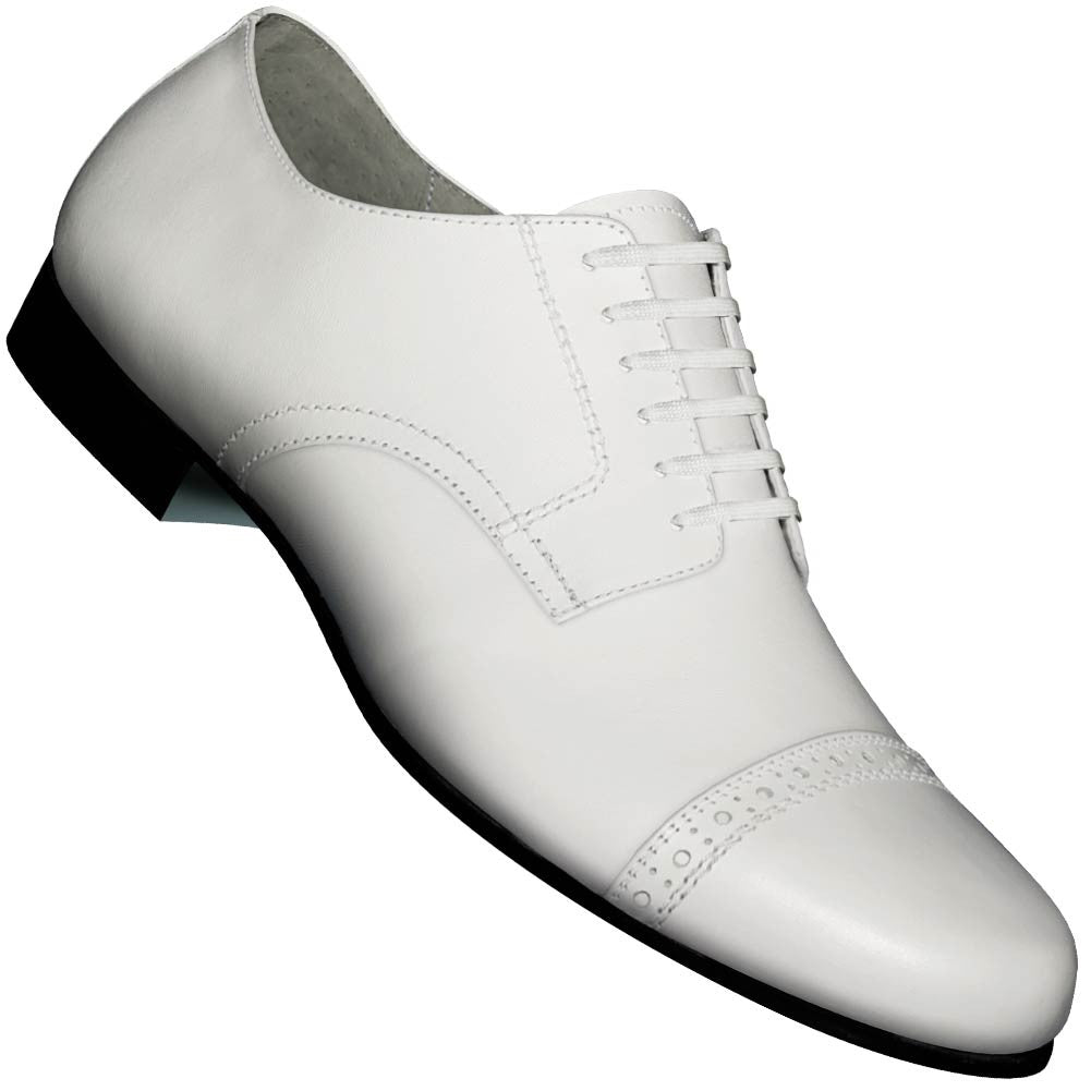 Aris Allen Men's 1930s White Captoe Dance Shoe, dancestore.com