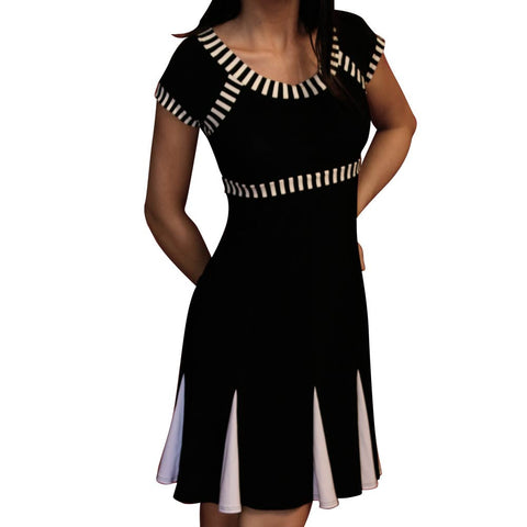 Black and White Cheerleader Dress - CLEARANCE - *Limited Sizes*