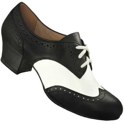 Aris Allen Women's Black and White Spectator Oxford Wingtip Swing Shoes - *Limited Sizes*