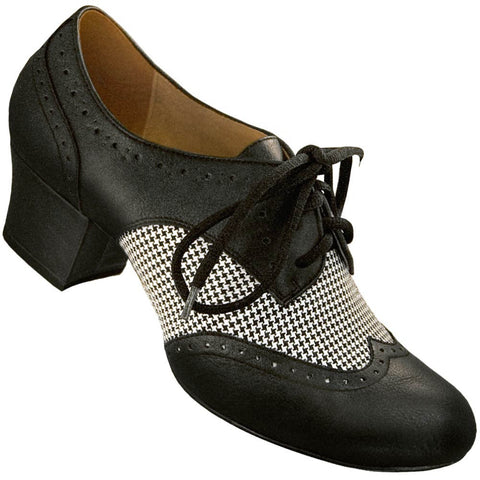 Aris Allen Women's Houndstooth Spectator Oxford Wingtip Swing Shoes