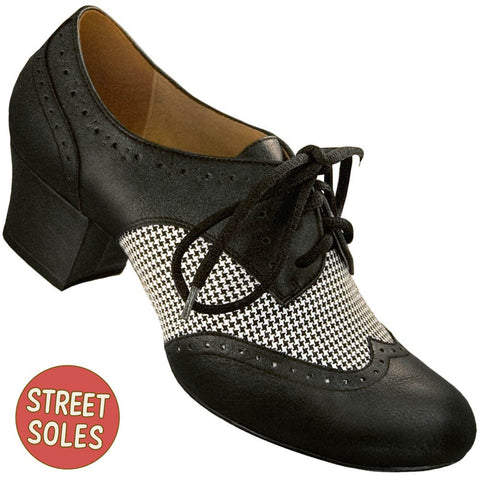 Aris Allen Women's Houndstooth Spectator Oxford Wingtips Street Soles - *Limited Sizes*