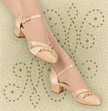 Aris Allen Women's Nude 1920s Satin d'Orsay Swing Dance Shoes - *Limited Sizes*, dancestore.com - 2