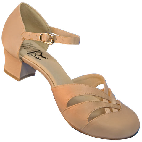 Aris Allen Women's Nude 1920s Satin d'Orsay Swing Dance Shoes - *Limited Sizes*