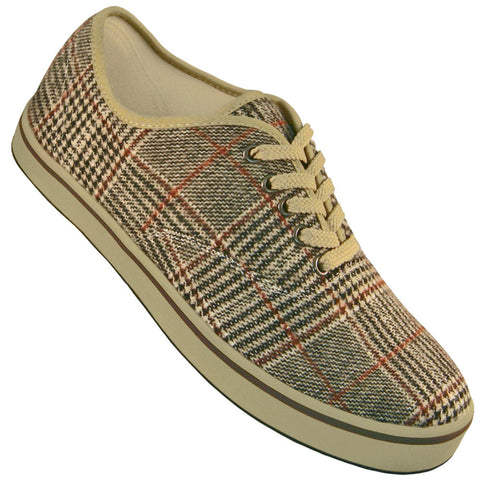 Aris Allen Men's Plaid and Tan Classic Dress Sneaker Dance Shoe - *Limited Sizes*