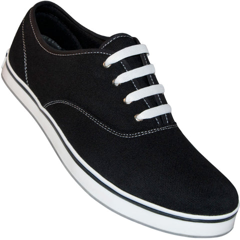 Aris Allen Men's Black Classic Dress Dance Sneaker - *Only Large Sizes*