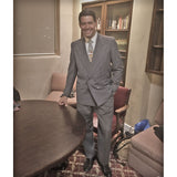 Suited Man in Office with Aris Allen black Captoe Shoes