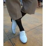 Closeup of Aris Allen Mens White Captoe Dance Shoes