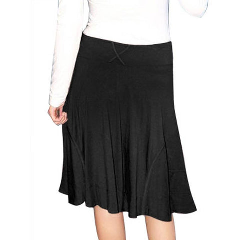 Black A-Line Skirt w/Side Pockets - CLEARANCE