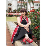 Cute girl college graduation in red Aris Allens