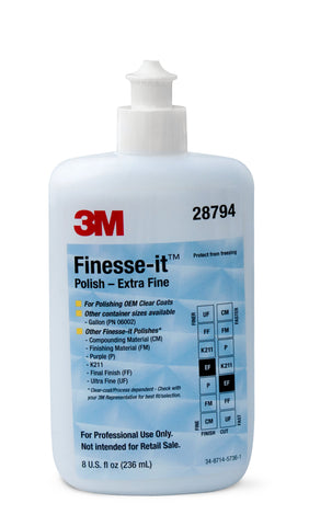 3M 8OZ FINESSE IT EXTRA FINE POLISH