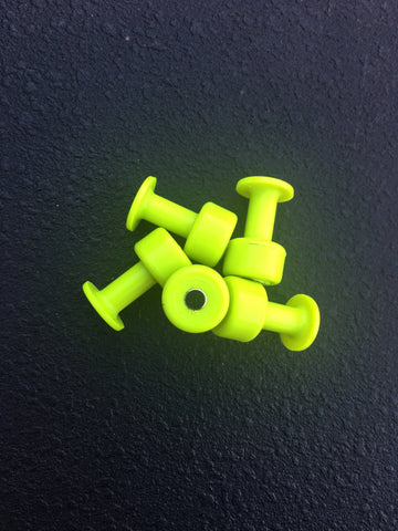 MagnaTabs- Magnetized 12mm Gang Green Smooth Tabs 5 pack
