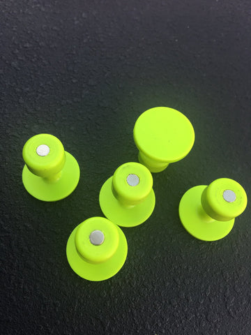 MagnaTabs- Magnetized 20mm Gang Green Smooth Tabs 5 pack