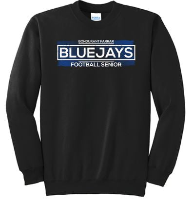 Bondurant Farrar Football Seniors 2020 - Adult Fleece Pullover Crewneck Sweatshirt (Seniors)