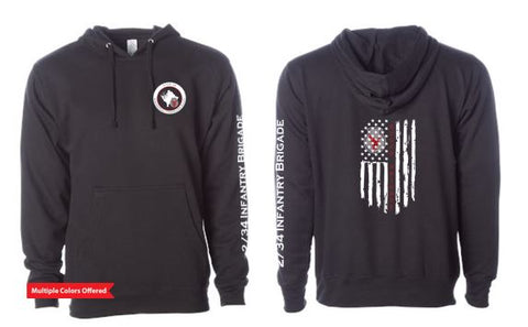 2/34 Infantry Brigade Civilian Store - Unisex Pullover Hooded Sweatshirt