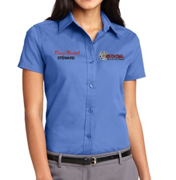 SCCA Ladies Short Sleeve Button Down Shirt